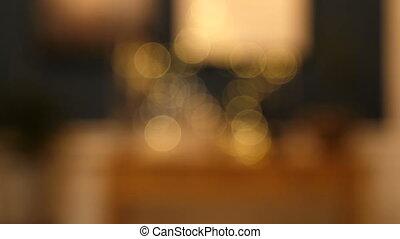 Defocused christmas lights background.