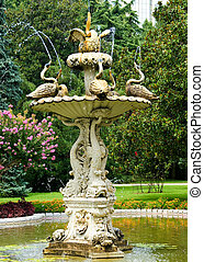 Dolmache palace's fountain and beautiful garden