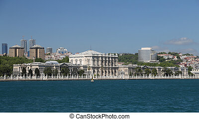 Dolmabahce Palace in Istanbul, Turkey - Dolmabahce Palace in...