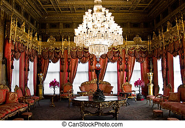 Dolmabahce palace interior, Istanbul, Turkey