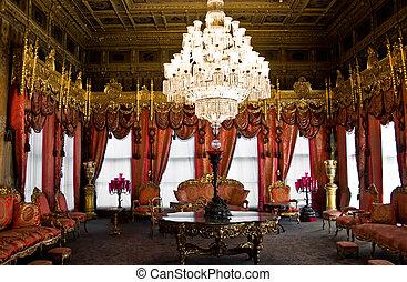 Dolmabahce palace interior, Istanbul, Turkey