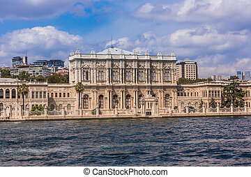 Dolmabahce palace near Bosphorus in Istanbul