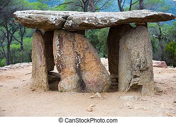 Dolmen de Pedra Gentil in Catalonia in Spain