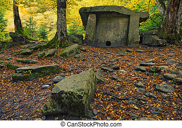 Dolmen in the forest