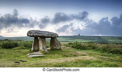 dolmen, néolithique, lanyon, quoit