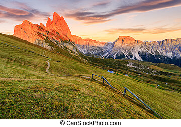 Dolomites Alps in Summer