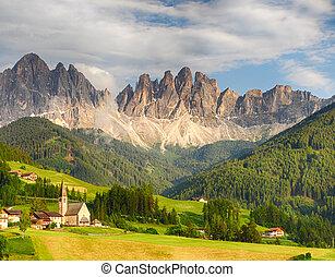 Dolomites alps, Mountain - Val di Funes