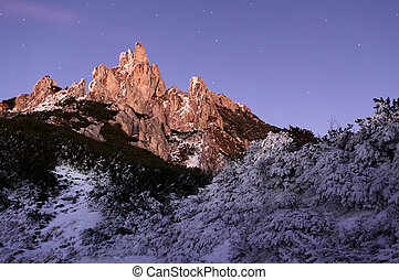 Dolomites at night - italy