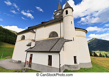 Dolomites - Church in Laste