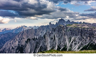 Dolomites drawing time lapse - Wide angle of Dolomites...