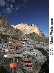 Dolomites - famous hiking trail