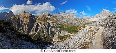 dolomites, montanha, itália, -