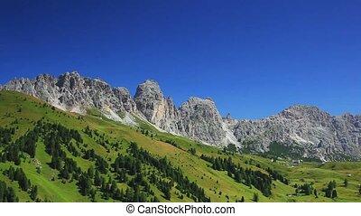 Dolomites mountains panorama.