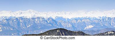 dolomites mountains panorma
