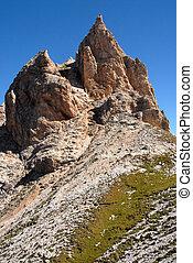 dolomites, olaszország, -, csúcs