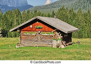 Dolomites, Summer season. Wonderful landscape of Italian Alps