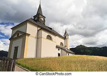Dolomiti - small church in Laste