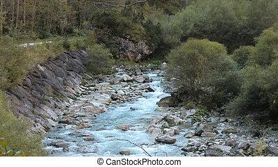 dolomity, 2, górski potok