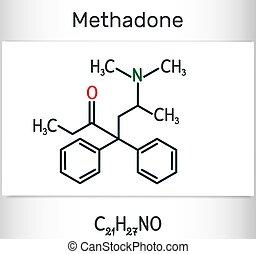 dolophine, utilisé, analgésique, molecule., molécule, il, ...