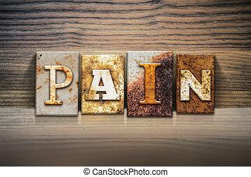 dolor, concepto, texto impreso, tema