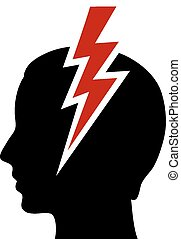 dolor de cabeza, icono