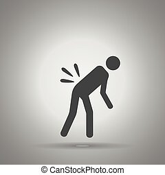 dolor de espalda, persona, dolor, espalda, icono