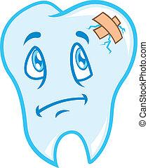 dolor de muelas, caricatura