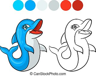 Dolphin coloring book.