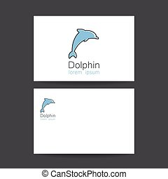 Dolphin jumping on a white background.