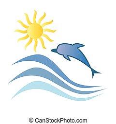 Dolphin Summer Ocean Tropical Vacation