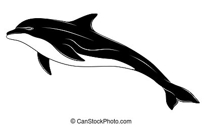 Dolphin, tattoo - Dolphin jumped out of the sea