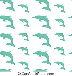 dolphin vector art background design for fabric and decor. Seamless pattern