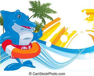 dolphin. Vector illustration