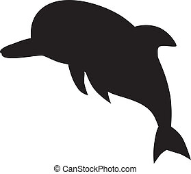 Dolphin. Vector silhouette