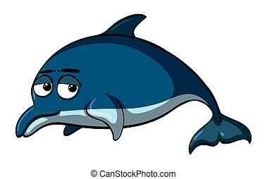 Dolphin with sad face