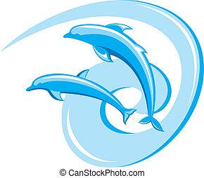 dolphins., zwei