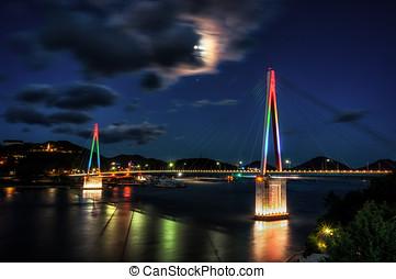 dolsan, ponte, in, yeosu