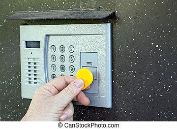 domácí telefon, pouívání, dveře