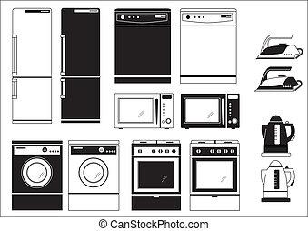doméstico, appliances.