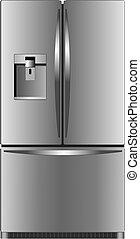 doméstico, refrigerador, unidad