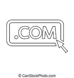 domínio, ilustração, sinal, com, ponto, ícone