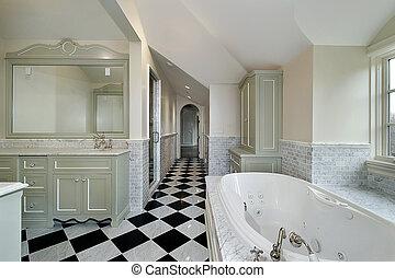 domů, čerstvý, konstrukce, mistr, koupel