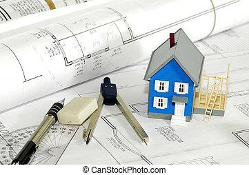 domů, stavitel, 4