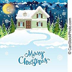 dom, śnieżny
