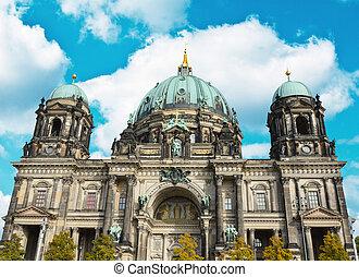 dom), -, berlin, allemagne, (berliner, cathédrale