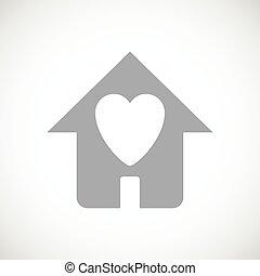 dom, czarnoskóry, miłość, ikona