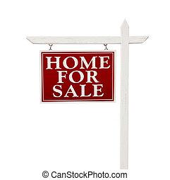 dom, dla sprzedaży, realność znaczą, na białym