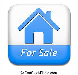dom dla sprzedaży, znak