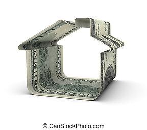 dom, dolary, sto, jeden