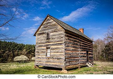 dom, drewno, utrzymany, histric
